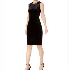 Calvin Klein Velvet Burnout Sheath Dress